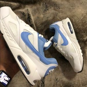 New Women's 7 Classic Air Max 90 Baby Blue / White